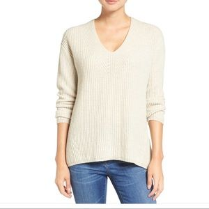 Madewell Woodside Pullover Sweater in Heather Fog